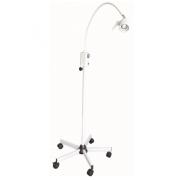 Lampe examen LED 3W blanche +  pied à roulette